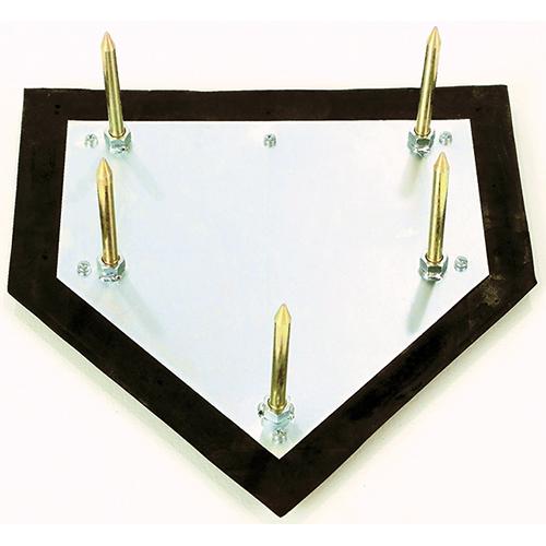 Major League Home Plate – w/ 5 Zinc-Plated Spikes