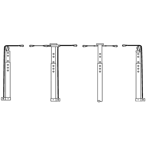 """3½"""" Volleyball System Tri-Court Adapter"""