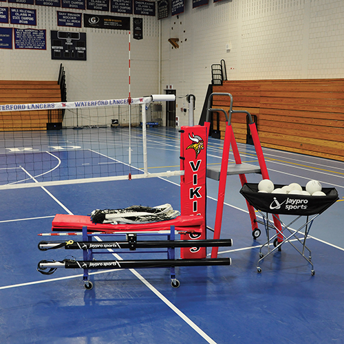 "Featherlite™ Deluxe Volleyball System Package (3-1/2"")"