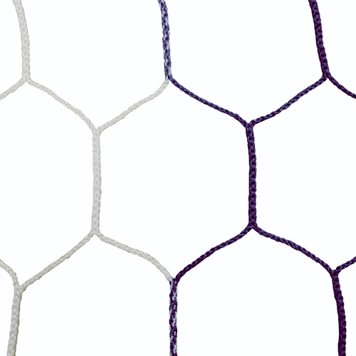 "5mm 5 1/2"" Hex Mesh White/Black Soccer Net 8×24"