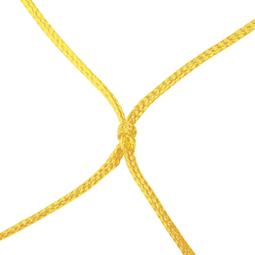 "4mm 5 1/2"" Sq Mesh Yellow Soccer Net 8×24"