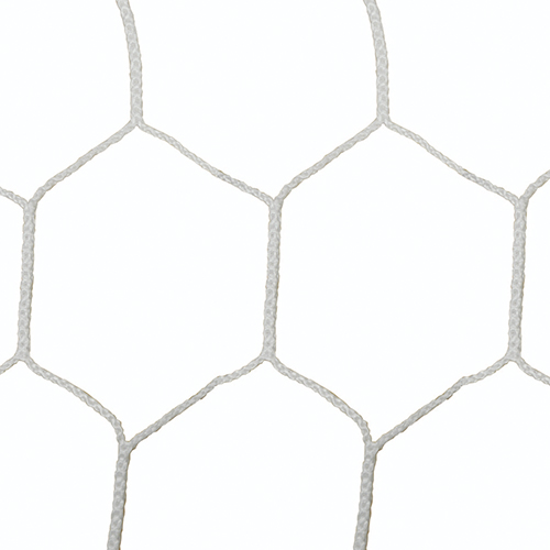 "5mm 5 1/2"" Hex Mesh White Soccer Net 8×24"