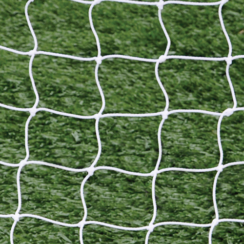 "4mm 5 1/2"" Sq Mesh White Soccer Net 8×24"