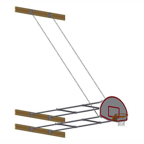 Stationary Backstop System – w/ Aluminum Fan Backboard (10'-12' Ext)