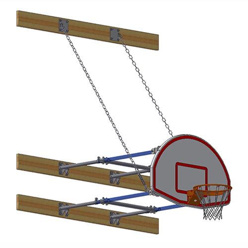 Stationary Backstop System – w/ Aluminum Fan Backboard (4'-6' Ext)