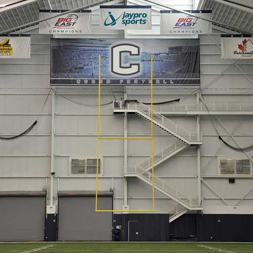 Retractable Motorized Ceiling Suspended Football Goal Post (20′ Uprights)