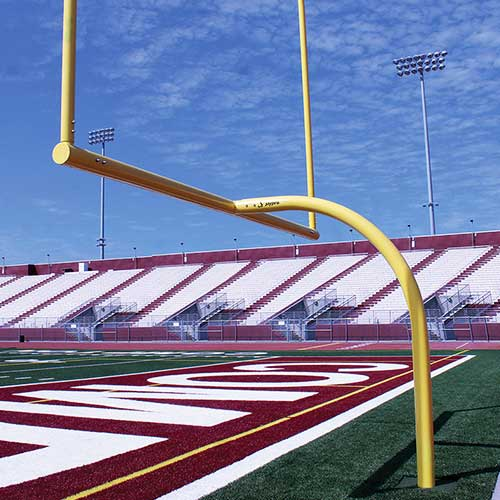 "MAX-1™ Football Goal Post (Leveling Plate – 6'Ox20'U – Collegiate 18' 6"" wide)"