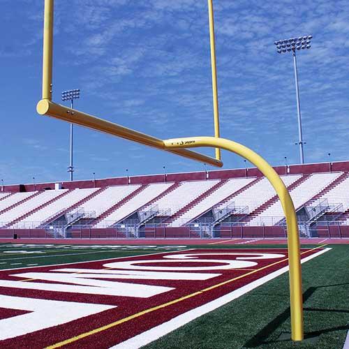 "MAX-1™ Football Goal Post (Leveling Plate – 6'Ox30'U – Collegiate 18' 6"" Wide)"