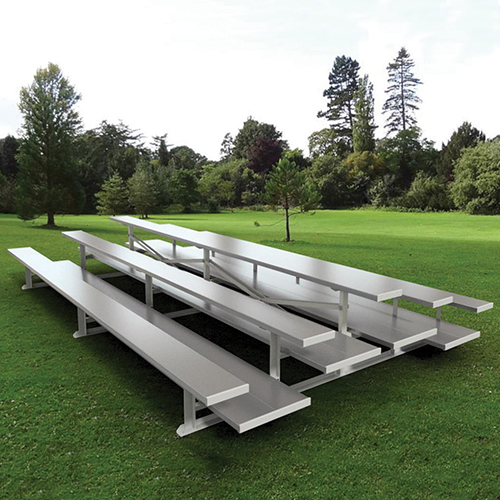 Back-to-Back Bleachers (7-1/2′ Double Foot Plank -3 Row)