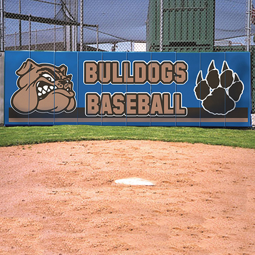 Backstop Wall Padding – Multi-Color Artwork
