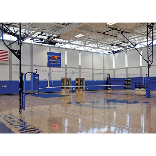 Ceiling Suspended Volleyball System (w/ Referee Stand)