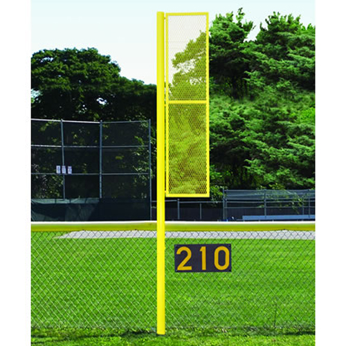 12' Collegiate Softball Foul Pole (Semi/Perm – White)