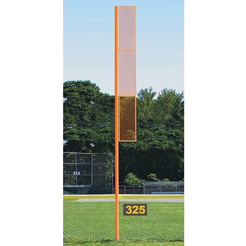 Professional Foul Pole (20′ Softball – Surface Mount – Orange)