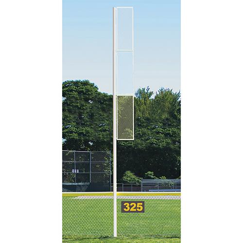 Professional Foul Pole (20′ Softball – Semi/Perm – White)