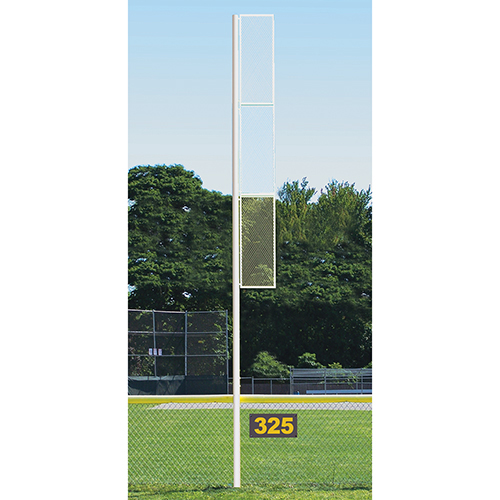 30' Collegiate Foul Pole (Softball – Semi/Perm – White)