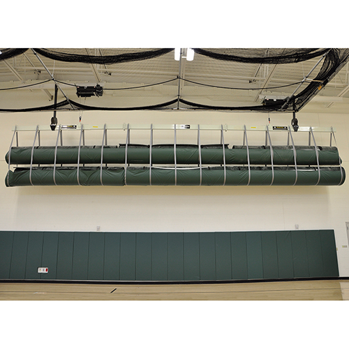 Securelift™ Wrestling Mat Storage System (Double Wall-Mounted)