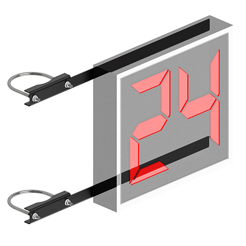 Shot Clock Mounting Brackets (2-3/8″ Double Drop)