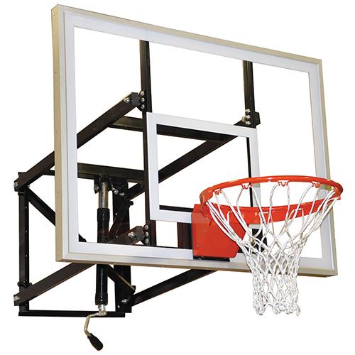 """Adjustable Wall Mount Shooting Station (54"""" Glass Backboard)"""