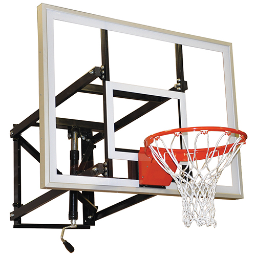 Indoor/Outdoor Adjustable Wall-Mounted Shooting Station (54″ Glass Backboard)