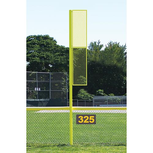 15' Collegiate Baseball Foul Pole (Semi/Perm – Yellow)