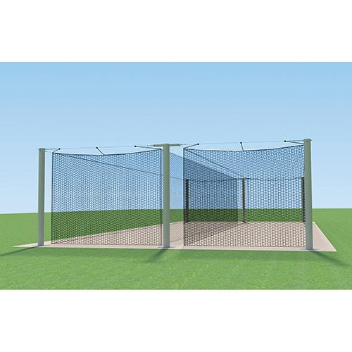 MEGA Outdoor Batting Tunnel Frame (55′ – Double)