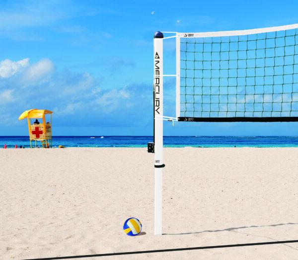Mercury™ Aluminum Beach Volleyball System (Recreational Net)