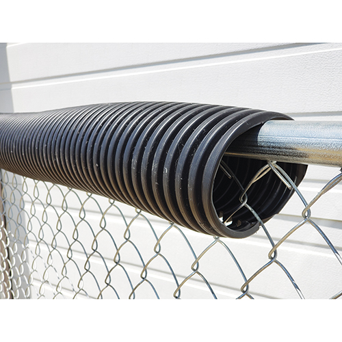 Poly-Cap Fence Top Protection (250′ Black)