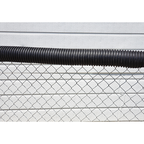 Poly-Cap Fence Top Protection (100′ Black)
