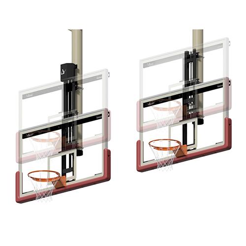 Height Adjuster Kits for Ceiling Suspended Center Strut Backstops (Electric)