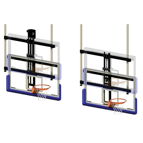 Height Adjuster Kits for Ceiling Suspended Double Drop Backstops (Electric)