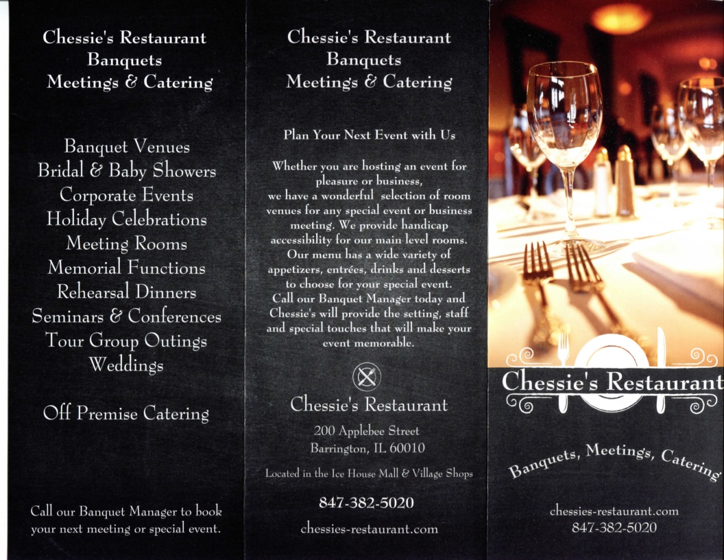 Chessies Banquet 2016 brochure-side 1