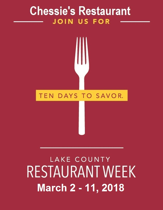 Chessie's Restaurant Week 2018