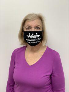 Mask with NA'AMAT USA Logo