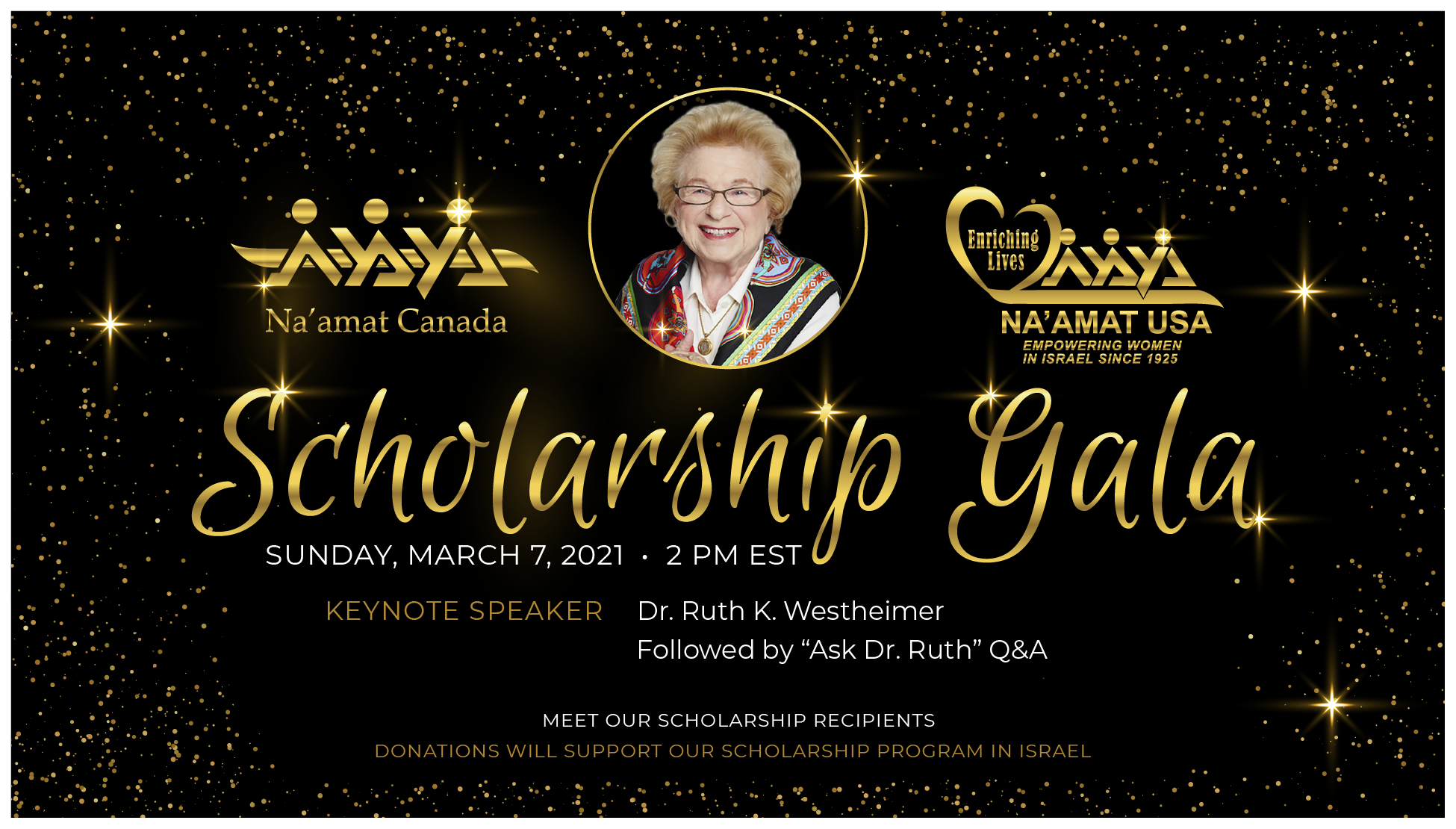 Scholarship Gala with Dr. Ruth