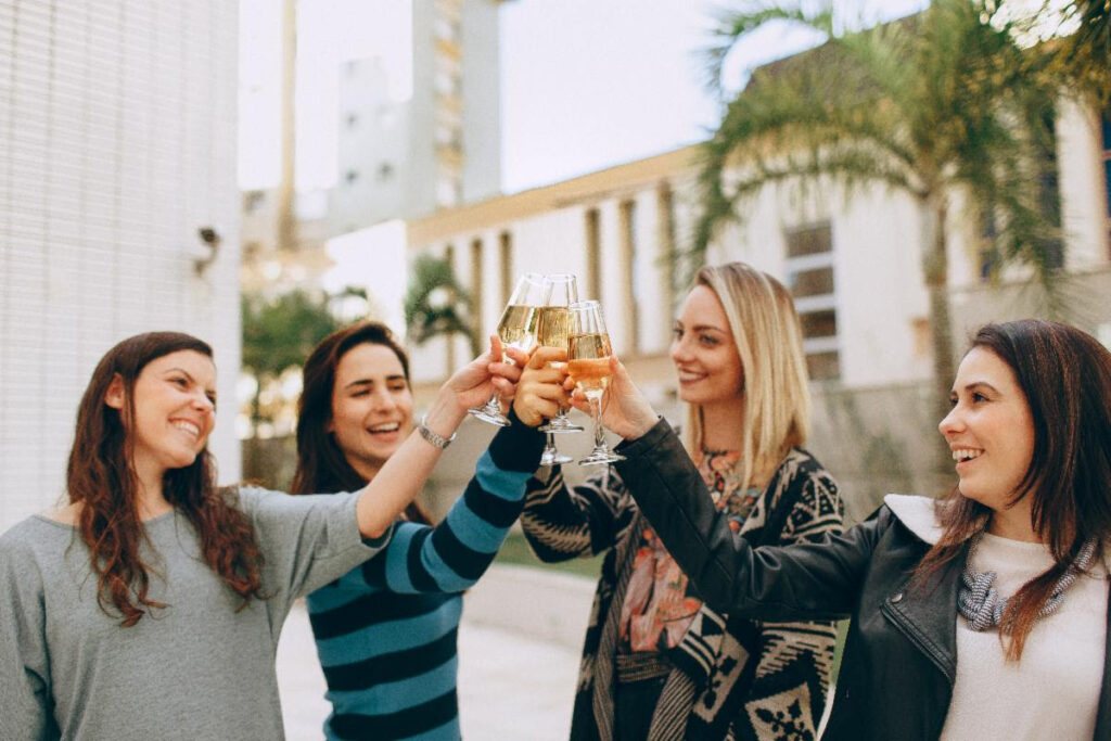 photo of women toasting