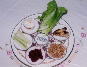 Seder plate in Israel