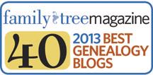 Top 40 Genealogy Blogs in 2013