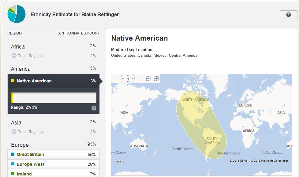AncestryDNA Results