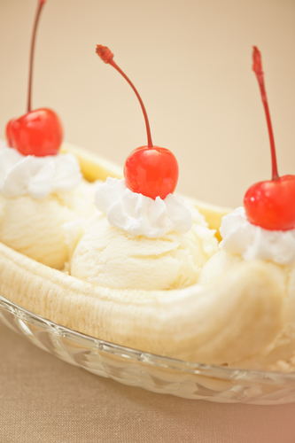 Banana Split Ice Cream