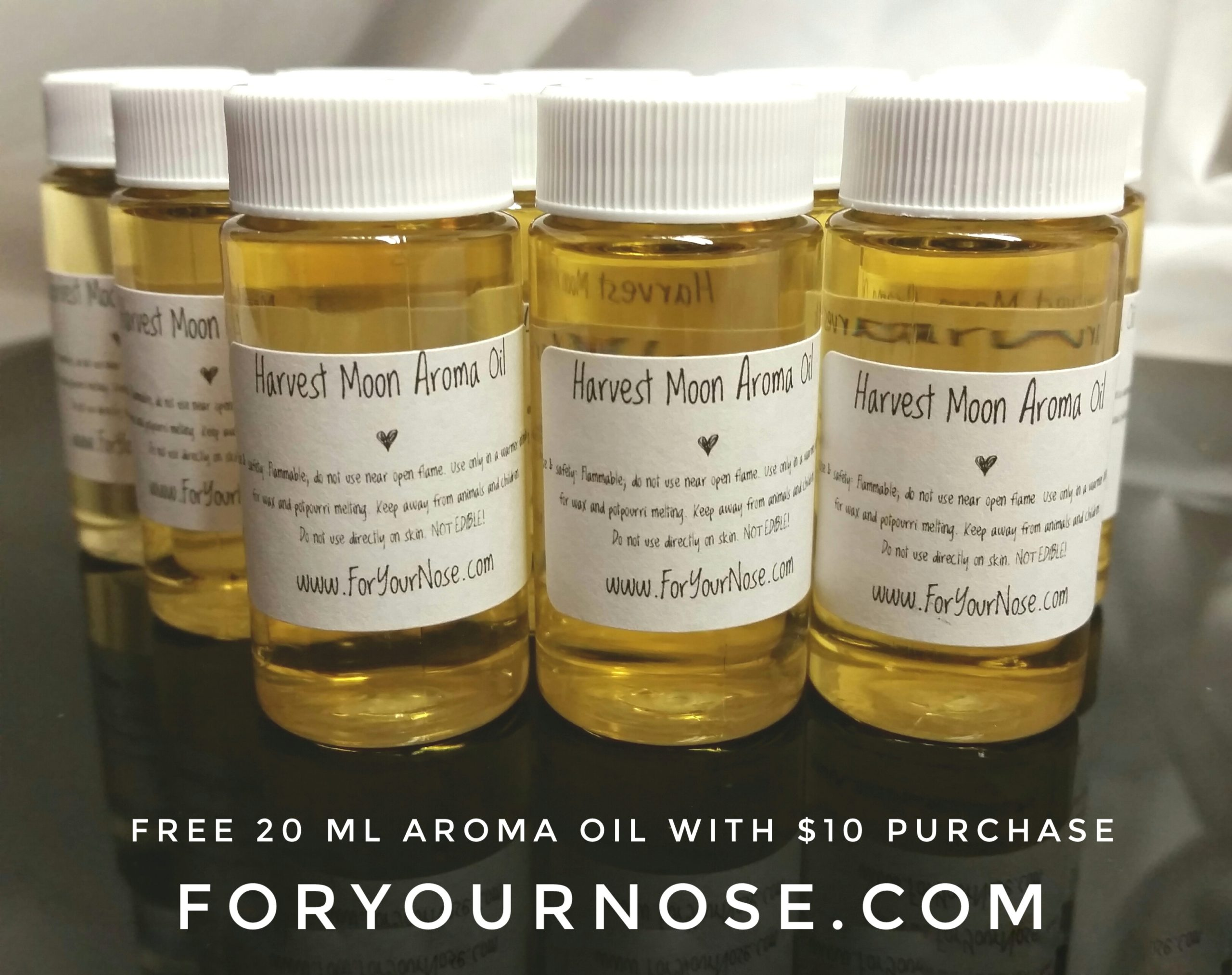 free aroma oil with $10 purchase
