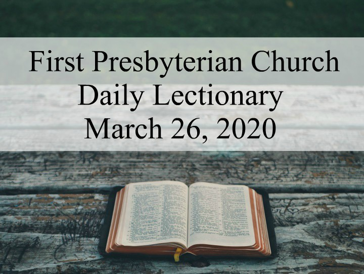 Daily Lectionary – March 26, 2020
