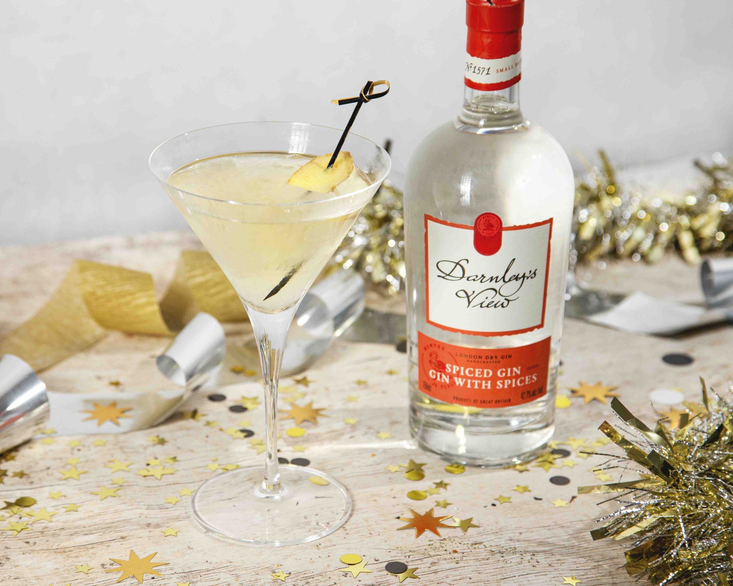 Holiday Martini With Spiced Gin