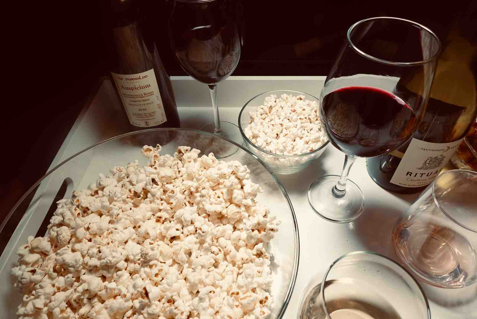 Red Wine Are The Best Wines For Popcorn Pairings For Your Next Binge-Watching Night