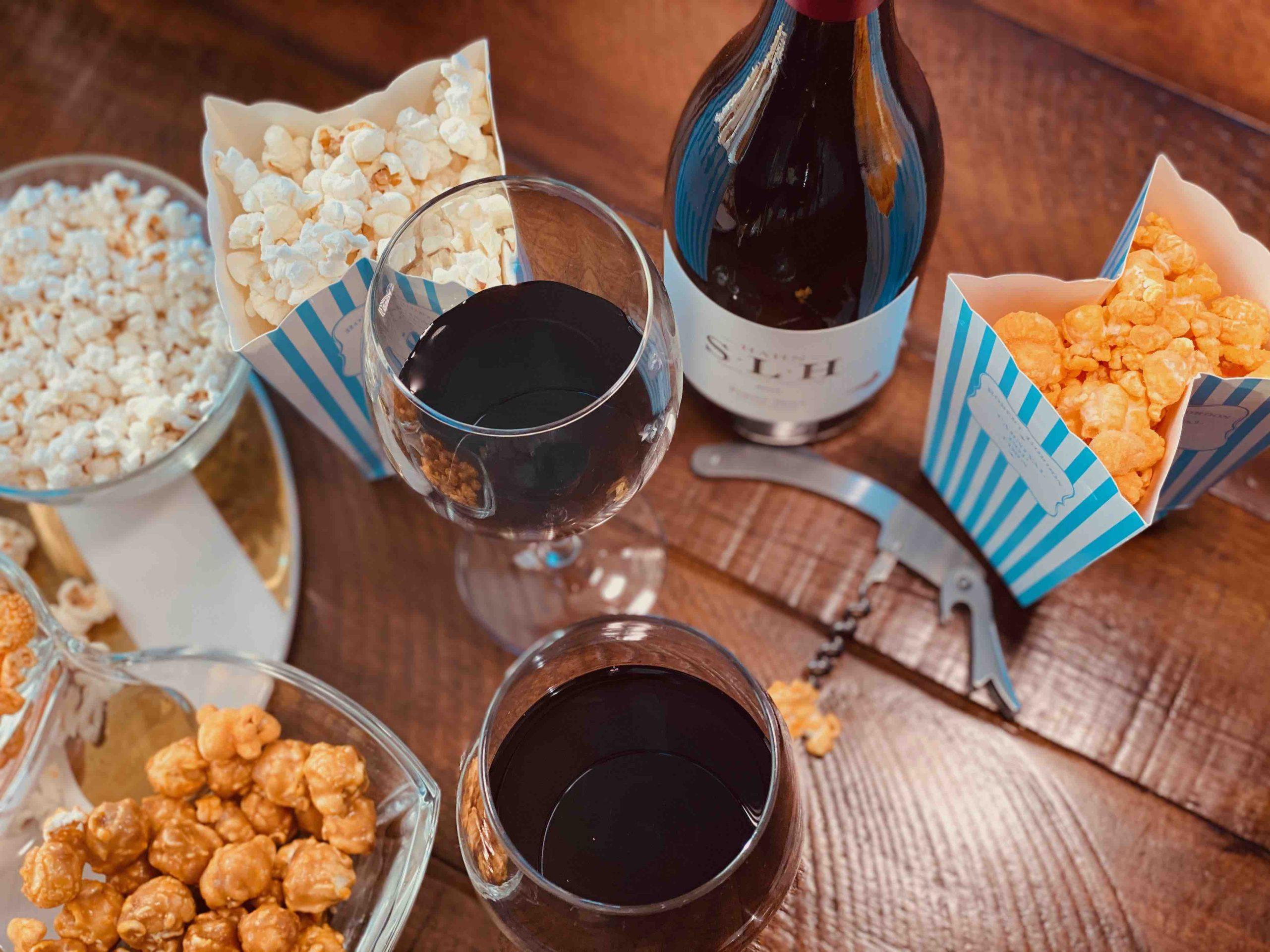 Best Wine And Popcorn Pairings For Your Next Binge-Watching Night