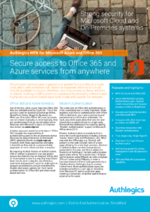 Authlogics for Azure and Office 365
