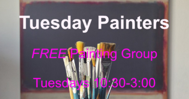 Tuesday Painters resume in July – FREE art activity
