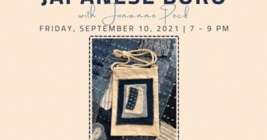 Japanese Boro Meetup Sept. 10 with Junanne Peck