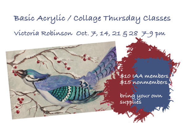 Basic Acrylic / Collage October Classes with Victoria Robinson