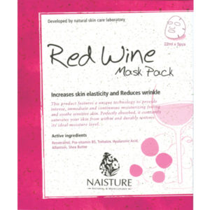 Naisture Cotton Sheet Mask RED WINE