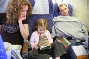 girl in plane